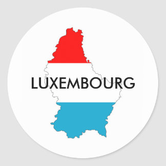 luxembourg country flag map shape silhouette classic round sticker