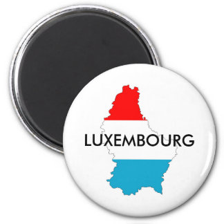 luxembourg country flag map shape silhouette magnet