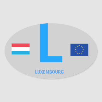 Luxembourg* Euro-Oval Sticker