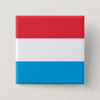 Luxembourg Flag 2 Inch Square Button