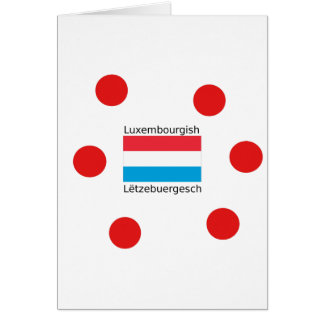 Luxembourg Flag And Luxembourgish Language Design Card