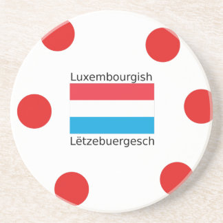 Luxembourg Flag And Luxembourgish Language Design Coaster