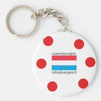 Luxembourg Flag And Luxembourgish Language Design Keychain