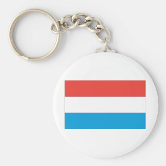 Luxembourg Flag Basic Round Button Keychain