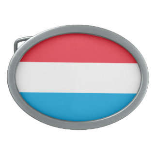 Luxembourg Flag Belt Buckles