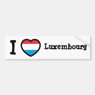 Luxembourg Flag Bumper Sticker