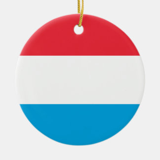 Luxembourg Flag Ceramic Ornament