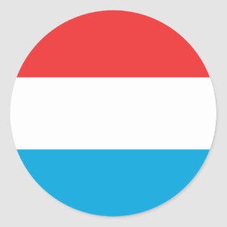 Luxembourg Flag Classic Round Sticker
