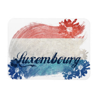 Luxembourg Flag Design Magnet