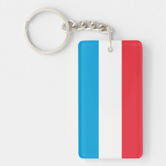 Luxembourg Flag Double-Sided Rectangular Acrylic Keychain