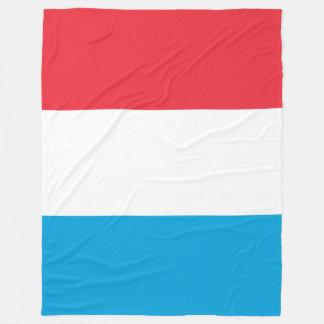 Luxembourg Flag Fleece Blanket