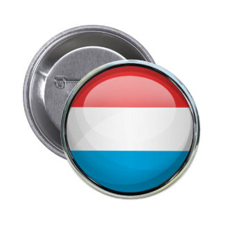 Luxembourg Flag Glass Ball 2 Inch Round Button