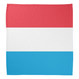 Luxembourg Flag Head Kerchiefs