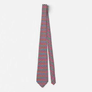 Luxembourg Flag Hearts Tie