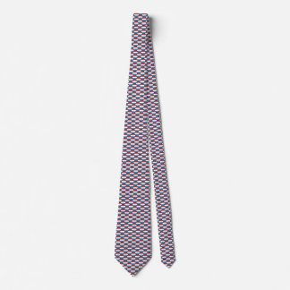 Luxembourg Flag Honeycomb Tie