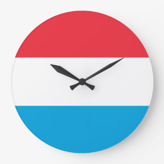 Luxembourg Flag Large Clock