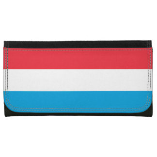 Luxembourg Flag Leather Wallet For Women