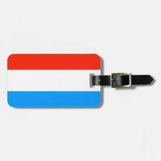 Luxembourg flag luggage tag