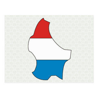 Luxembourg Flag Map full size Postcard