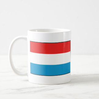 Luxembourg Flag ~ Map Mug
