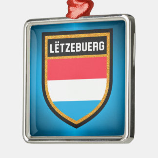 Luxembourg Flag Metal Ornament