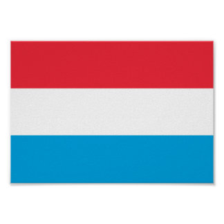 Luxembourg Flag Poster