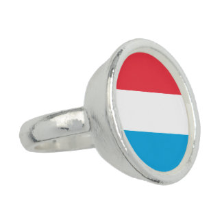 Luxembourg Flag Rings