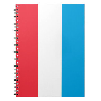 Luxembourg Flag Spiral Notebook