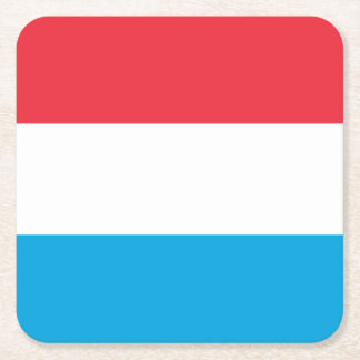 Luxembourg Flag Square Paper Coaster
