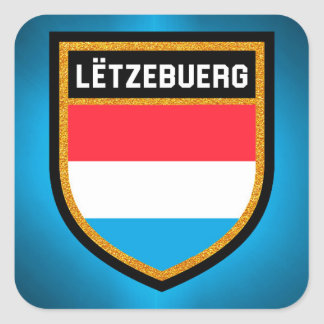 Luxembourg Flag Square Sticker