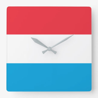 Luxembourg Flag Square Wall Clock