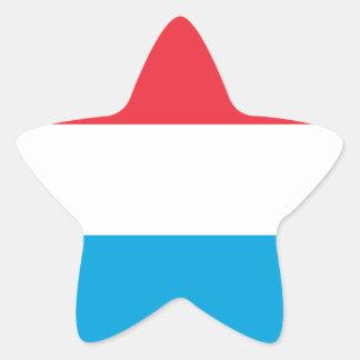 Luxembourg Flag Star Sticker