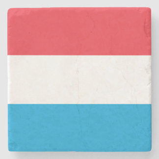 Luxembourg Flag Stone Coaster