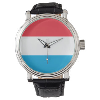 Luxembourg Flag Wrist Watch