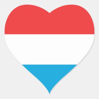 luxembourg heart sticker