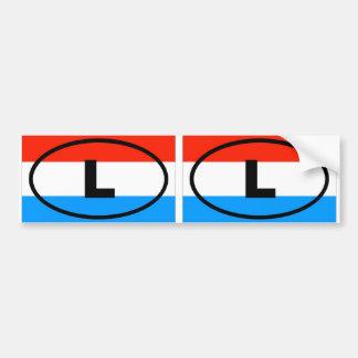 Luxembourg - L - European oval Bumper Sticker