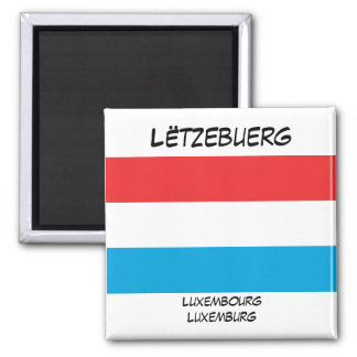 Luxembourg Languages Flag Square Magnet