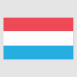 Luxembourg/Luxembourger Flag Sticker