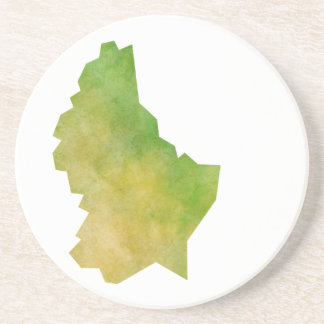 Luxembourg Map Beverage Coasters