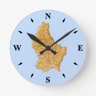 Luxembourg Map Clock
