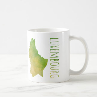 Luxembourg Map Coffee Mug