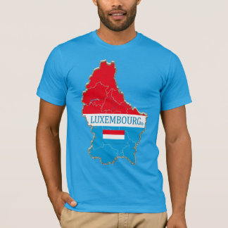 Luxembourg Map Designer Shirt Garments; Him or Her