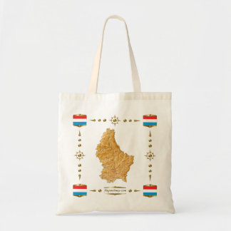 Luxembourg Map + Flags Bag