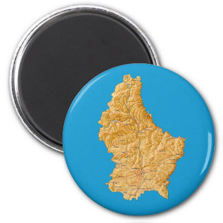 Luxembourg Map Magnet