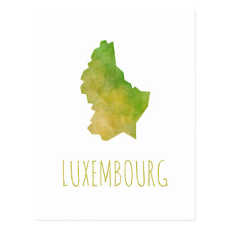Luxembourg Map Postcard