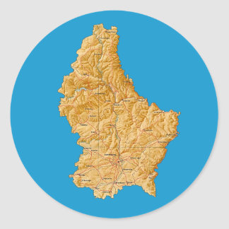 Luxembourg Map Sticker