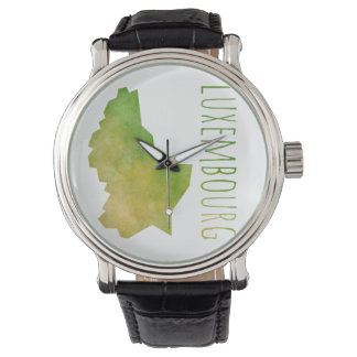 Luxembourg Map Wrist Watch