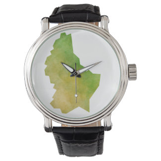 Luxembourg Map Wristwatch