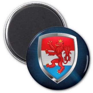 Luxembourg Metallic Emblem Magnet