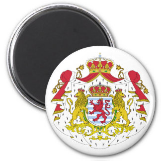 Luxembourg Official Coat Of Arms Heraldry Symbol 2 Inch Round Magnet